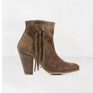 Anthropologie Howsty Marci Fringe Ankle Boot